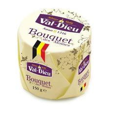 El Bouquet des Moines es un queso de pasta blanda elaborado con leche pasteurizada de vaca que procede del corazón del País Herve, un lugar al este de Bélgica