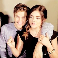 Keegan Allen (Toby Cavanaugh) and Lucy Hale(Aria Montgomery) - Pretty Little Liars #PLL