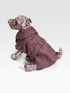 Juicy Couture Herringbone Dog Trench