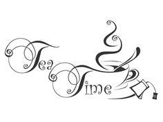 Wandtattoo Tea Time - Tea Time Wandspruch von Wandtattoos.de