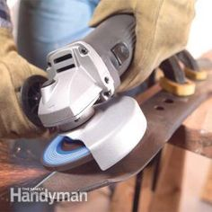 Learn to use an angle grinder tool to cut tile, mortar and pavers; make quick work of rust and loose paint removal; sharpen blades and cut or grind steel. Lawn Mower Blades, Garden Tool Storage, Garage Storage, Sharpening Tools, Angle Grinder, Woodworking Tips, Woodworking Workshop, Cool Tools, Chainsaw