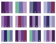 보라색 종류와 어울리는 색매치 :: 페미닌걸-10/20대여자패션블로그,훈녀생정 Color Pick, Hue Color, Colour Pallette, Flat Color, Color Combinations, Color Schemes, Color Harmony, Color Balance, Colour Board