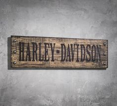 Studded Wooden Sign | New Arrivals | Official Harley-Davidson Online Store