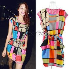 Hot Lady Women Summer Sexy Casual Short Mini Evening Cocktail Party Dress MSF
