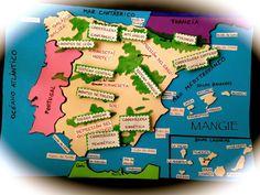 Mapa físico de España en foamy