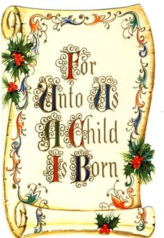Christmas Card For Unto Us #Christmas #Card #Verse