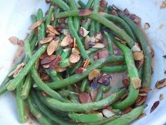 Coconut-Almond Green Beans!