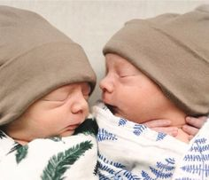 Welcome to the world! Double the cuteness, friends for life.
