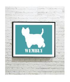 Dog Silhouette Digital Art Print - West Highland Terrier - Westie - Pet Portrait - Personalized Dog Gift - Dog Lover - Decor - Print by OutlineArt Dog Lover Gifts, Dog Gifts, Dog Silhouette, West Highland Terrier, Westies, Pet Portraits, Cat Lovers, Moose Art, Digital Art