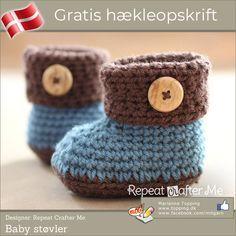 Crochet For Kids, Diy Crochet, Crochet Baby, Baby Slippers, Crochet Slippers, Baby Knitting Patterns, Crochet Patterns, Baby Barn, Repeat Crafter Me