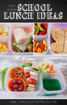 I don't know about you, but I'm always on the lookout for quick + healthy school lunch ideas for my kids! Lunches that aren't to complicated to throw together in the morning rush. Lunches that are who