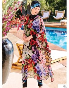 Adasea 6011 Pareo is part of our stylish set of 2018 Spring - Summer collection Adasea 6011 Pareo details, Islamic Swimwear, Muslim Swimwear, Modest Swimsuits, Modest Dresses, Muslim Fashion, Modest Fashion, Pool Chlorine, Hijab Trends, Fluorescent Colors