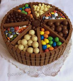 """""""Sigo con el momento dulce, esta tarta fue para Pablo, un amiguín de mi hijo y que junto con sus padres y el pequeñín de la casa, Mateo, y..."""
