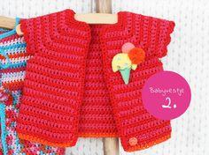 Little baby cardigan free crochet pattern Knitting Patterns Free, Free Knitting, Baby Knitting, Crochet Patterns, Crochet Bebe, Free Crochet, Knit Crochet, Crochet Baby Sweaters, Crochet Baby Cardigan