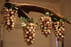 Cork Art Ideas Driftwood And Wine Cork Art Grape Vine Handmade By Cork Board Art Ideas – meizhi. Wine Craft, Wine Cork Crafts, Wine Bottle Crafts, Wine Cork Wreath, Wine Cork Art, Wine Cork Projects, Art Projects, Deco Champetre, Cork Ornaments