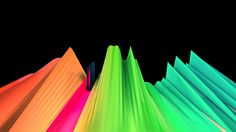 "Abstract 3D audio waveforms, spectrum analyzers, VU meters, levels, frequencies, equalizer, visualizers. ""Haz Slicer"" VJ Loop/Clip for Live Visuals 