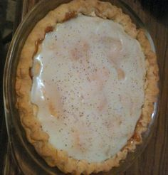 This is a great recipe given to me by my Mother in law. This is my husbands favorite pie and I love making it for him. Even if you dont like raisins too much, they are not overwhelming.