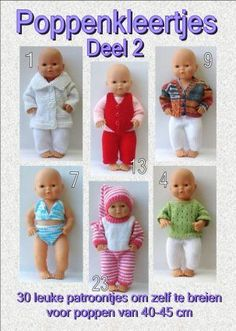 Breien met Plezier Haken Baby, Baby Born, Appliques, Baby Dolls, Doll Clothes, Diy And Crafts, Bb, Barbie, Sewing