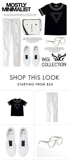 """""""WiGi Atlantean Luxury T-Shirt/black"""" by helenevlacho ❤ liked on Polyvore featuring Chicnova Fashion, Pierre Hardy, Lulu Guinness, Serfontaine and wigicollection"""