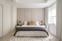 West Village Duplex is a private residence created by Manhattan interior design firm NYC Interior Design. NYC Interior Design recently completed a renovati Master Bedroom Design, Home Bedroom, Bedroom Wall, Bedroom Decor, Bedroom Modern, Calm Bedroom, Trendy Bedroom, Bedroom Storage, Calming Bedroom Colors