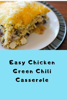 Easy Chicken Green Chili Casserole (Keto Chicken Casserole) A solid low carb and keto green stew dish makes a definitive solace nourishment supper formula when you need something fast and simple. Green Chili Chicken Casserole, Easy Chicken Chili, Chicken Chili Verde, Moist Chicken, Easy Chicken Recipes, Easy Dinner Recipes, Easy Meals, Easy Recipes, Recipes With Enchilada Sauce