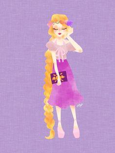 The Art of Hiyo | Tangled | Rapunzel | Enredados | @Dgiiirls
