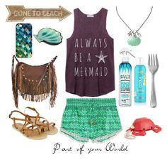 """""""Ariel"""" by gracechilderz ❤ liked on Polyvore featuring Paloma Blue, Accessorize, Liquorish, Not Your Mother's, SwimSpot, Betsey Johnson, Lenox and Casetify"""