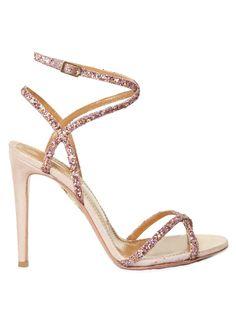 90eae219f279 Aquazzura Leila glitter and suede sandals Sexy Sandals