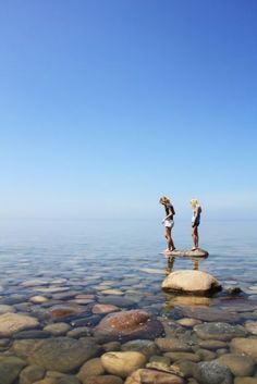 Reminds me of my sister and i... Ah yah!  Drummond Island MI and Goodwin Park Crivitz WI...
