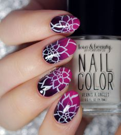 Lacquerstyle gradient with flowers