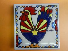 "Art Tile /""Texas/"" Star Flag Flower Cowboy Horse Southwest Ceramic Backsplash Big"