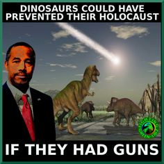 Gun-nut Logic- Ben Carson is like listening to your drunk uncle with dementia, Alzheimer's and ego problems.