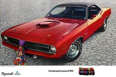 1970 Plymouth Hemi 'Cuda ad poster