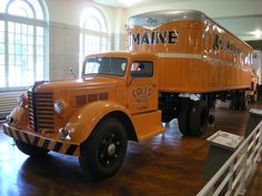 Tractor is quite similar to Hartoy Peterbilt - demonstrates 1950's appropriate tractor and trailer