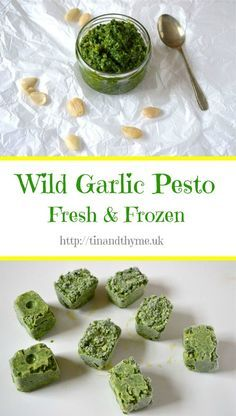 Wild Garlic Pesto Recipe and what to do with it. So versatile. Works with pasta, spread on bread and can be frozen for using when the wild garlic season is long past. Vegetable Recipes, Vegetarian Recipes, Cooking Recipes, Healthy Recipes, Healthy Food, Healthy Meals, Delicious Recipes, Ramp Pesto, Wild Garlic Pesto