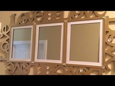 "Dollar Tree DIY - ""Surrounded by Love"" Wall Decor - YouTube"