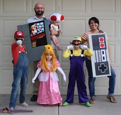 Nintendo Family Costume - Halloween Costume Contest via @costume_works