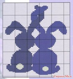make their tails hearts. Knitting Charts, Knitting Stitches, Knitting Patterns, Crochet Patterns, Baby Knitting, Counted Cross Stitch Patterns, Cross Stitch Charts, Cross Stitch Embroidery, Easter Cross