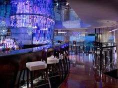 One of the most famous hotels in Hong Kong, The Excelsior Hotel enjoys a fantastic location overlooking Victoria Harbour. Excelsior Hotel, Victoria Harbour, Honeymoon Hotels, Best Rooftop Bars, Cool Bars, Deco, Restaurant Bar, Restaurant Design, Hotels And Resorts