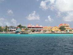Kralendijk, hoofdstad Bonaire.