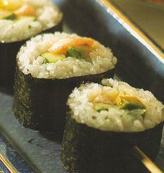 Shrimp Avocado Skewer Rolls, SUSHI - COOKED, Japanese Recipe, Japanese Food Recipe