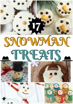 17 Best Snowman Treats to Enjoy - Thrifty Mommas Tips Kid Desserts, Holiday Desserts, Holiday Recipes, Christmas Recipes, Christmas Ideas, Merry Christmas, Christmas Sweets, Christmas Goodies, Frosty The Snowmen