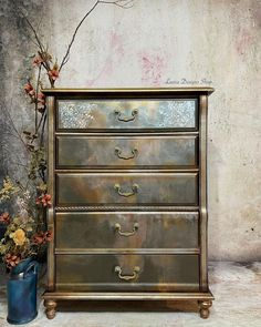 Gold Painted Furniture, Nautical Furniture, Paint Furniture, Furniture Makeover, Furniture Ideas, Chalk Paint Projects, Touch Up Paint, Modern Masters, Furniture Upholstery