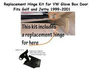 Glove Box Repair Kit for VW Golf and Jetta -Bottom Right Passenger Hinge Kit- (Black) 1999.5 - 2001