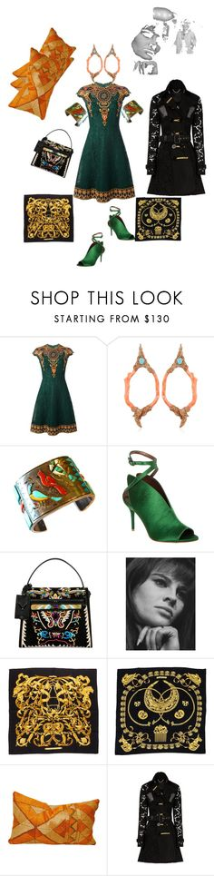 """""""Nostalgia"""" by palmgrass99 ❤ liked on Polyvore featuring Valentino, Opposite Jewels, Max Studio, Hermès and Burberry"""