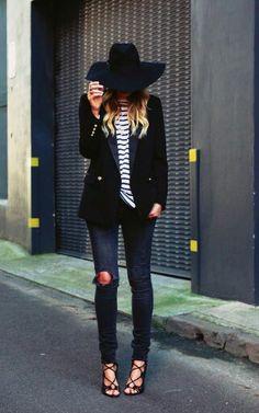 Black felt floppy hat ♥                                                                                                                                                                                 More