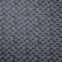 Dotted Floral Fabric in Navy