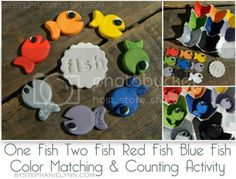 One Fish Two Fish Color Matching & Counting Activity {Dr. Seuss Kids Craft}