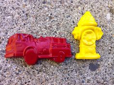Fire Truck and Fire Hydrant crayons