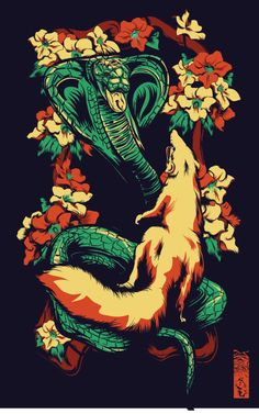 Rikki-Tikki-Tavi VS Nag by Coe Lacy, via Behance
